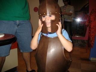 At the ROM in Toronto, ON. They loved putting on the armour.